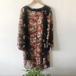 Fall Floral Gypsy Vibe Kimono Cardigan